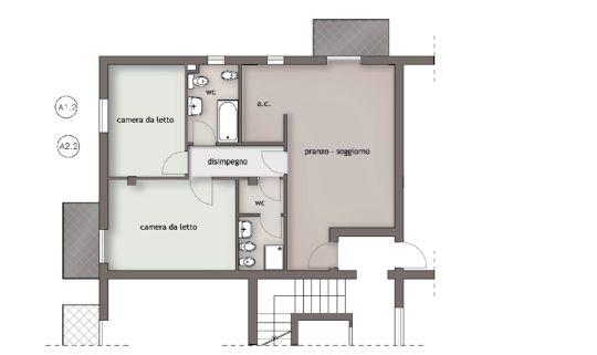 Pianta appartamento 80 mq decora la tua vita - Pianta casa 90 mq ...